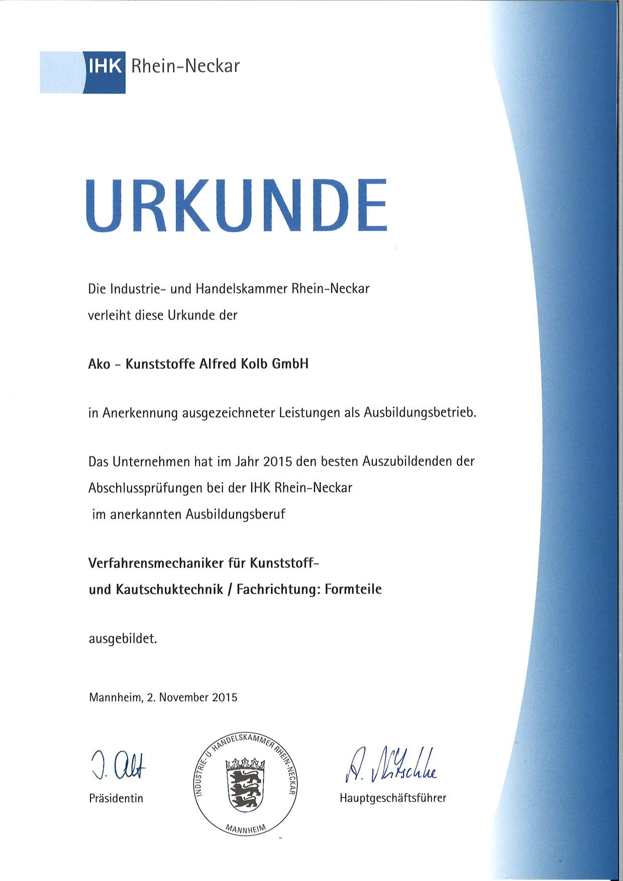 Karriere - ako - Alfred Kolb GmbH - Kunststoffe